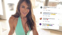 Liz Hurley, 55, turns heads in green swimsuit: 'Beyond compare!'