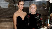 Sarah Paulson, 43 poses with girlfriend Holland Taylor, 75 at the Emmys