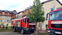 Heim in Templin brennt - ein Mann tot, sieben Verletzte
