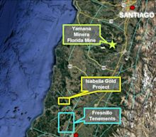 Montero Review Returns 14.21 g/t Au & 164 g/t Ag at the Isabella Gold Silver Project in Southern Chile