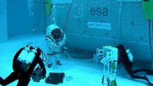 Why Are Astronauts Moonwalking on the Bottom of This Giant Pool?