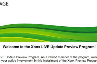 Find out if you're in the Xbox Live Update Preview Program right now