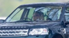 Prince Philip Seen Driving for First Time Since Surrendering His License After Flipping His Car