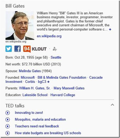 Bing broadens Snapshot to include TED Talks, famous speeches and more straight from the results page