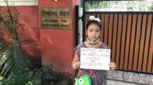 'Injustice to Students': Activist Licypriya Kangujam Protests Outside Education Min's Residence Requesting JEE-NEET Postponement