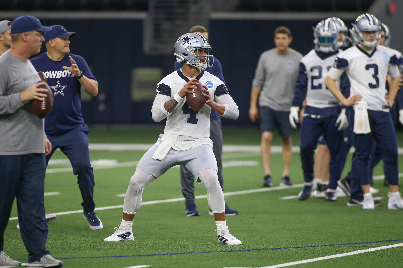 ca5d2e76ae9 Cowboys quarterback Dak Prescott drew comparisons to Warren Moon at OTAs