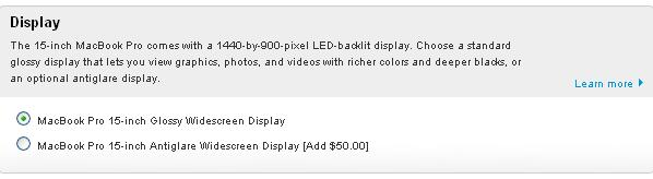 Apple reinstates matte display option on 15-inch MacBook Pro, charges $50 for it