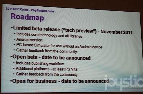 PlayStation Suite SDK will be released in 'limited beta' in November