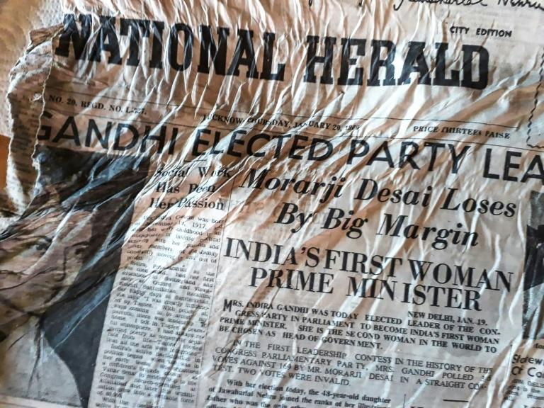 The copies of the Indian newspapers the National Herald and The Economic Times were probably aboard an Air India Boeing 707 that crashed on the mountain on January 24, 1966, killing 177 people (AFP Photo/Bernard BARRON)