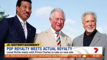 Pop royalty meets actual royalty