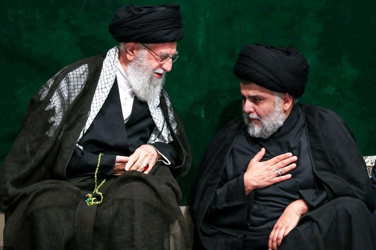 A rare audience with Iran's supreme leader Ayatollah Ali Khamenei has left observers divided over maverick Iraqi Shiite cleric Muqtada al-Sadr's standing with Tehran (AFP Photo/-)