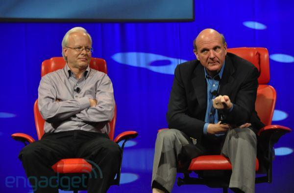 Steve Ballmer and Ray Ozzie live from D8