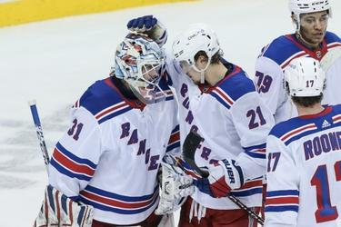 Igor Shesterkin posts first NHL shutout in Rangers' 3-0 win over Devils