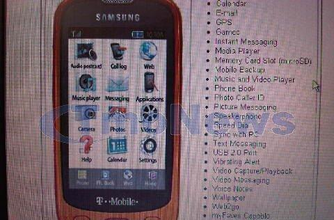 Samsung Highlight pictured, confirmed for July 15 release on T-Mobile?