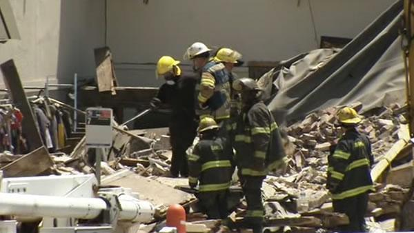 Body bags taken from Pa. building collapse site