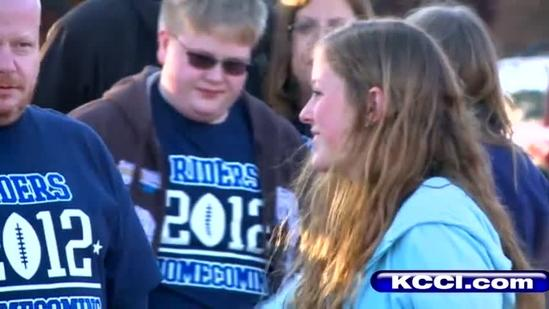 Teen hit by car returns for homecoming