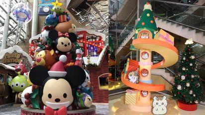【聖誕節2018】氹女友好去處!Sanrio + Disney 卡通主題聖誕商場裝飾