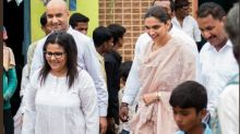 Pics: Deepika Padukone visits health centre in Devangre on World Mental Health day