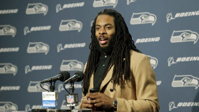 Richard Sherman says report of any rift with Russell Wilson is 'nonsense'