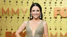 Julia Louis Dreyfus Returns to the Emmys Red Carpet After Cancer Battle in Glittery Gold Gown