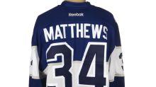 Auston Matthews' game-worn jersey sells for big bucks
