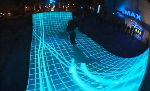 Tron: Legacy gets its very own interactive halfpipe (video)