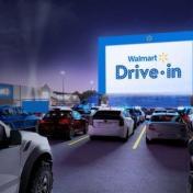 美國 Walmart 把停車場變成汽車電影院