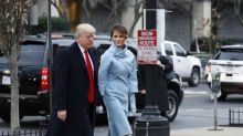 Melania Trump wears the Duchess of Cambridge's favourite colour on Inauguration day