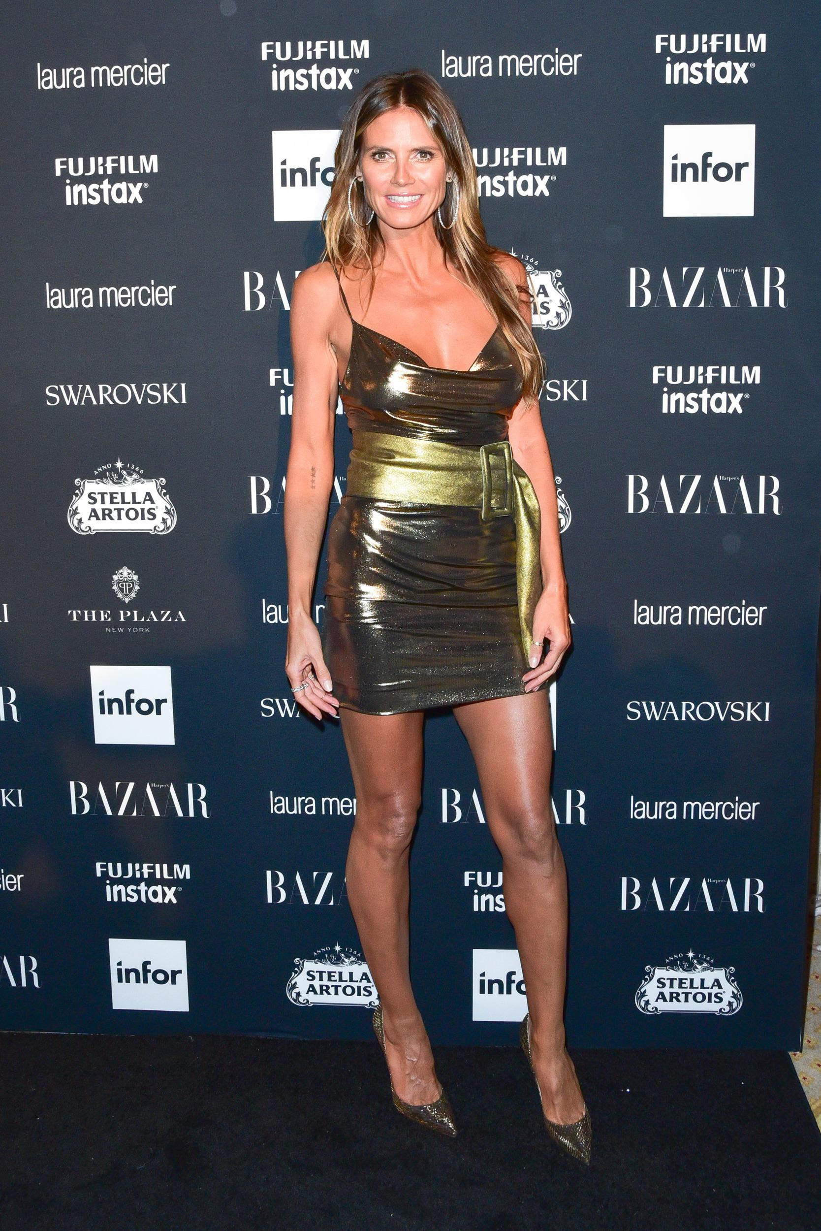 NEW YORK, NY - SEPTEMBER 08:  Heidi Klum attends 2017 Harper's Bazaar Icons at The Plaza Hotel on September 8, 2017 in New York City.  (Photo by Sean Zanni/Patrick McMullan via Getty Images)