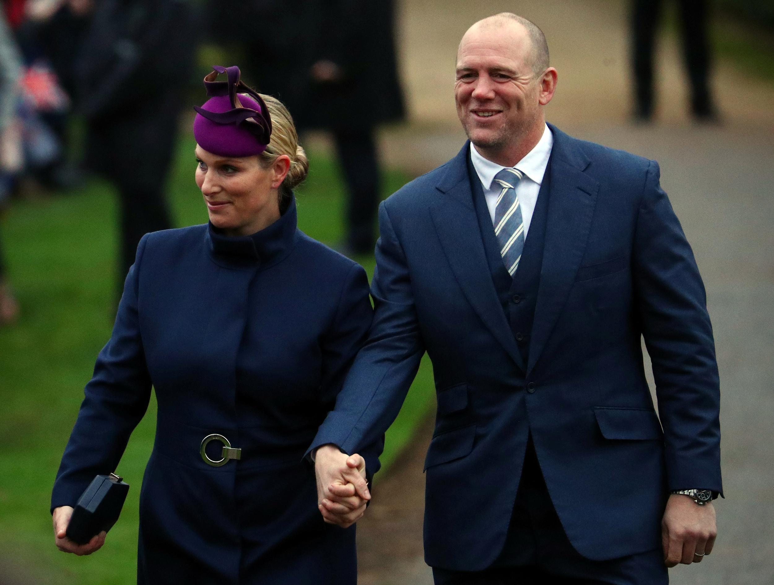 Zara Phillips and Mike Tindall arrive at St Mary Magdalene's church for the Royal Family's Christmas Day service on the Sandringham estate in eastern England, Britain, December 25, 2018. REUTERS/Hannah McKay