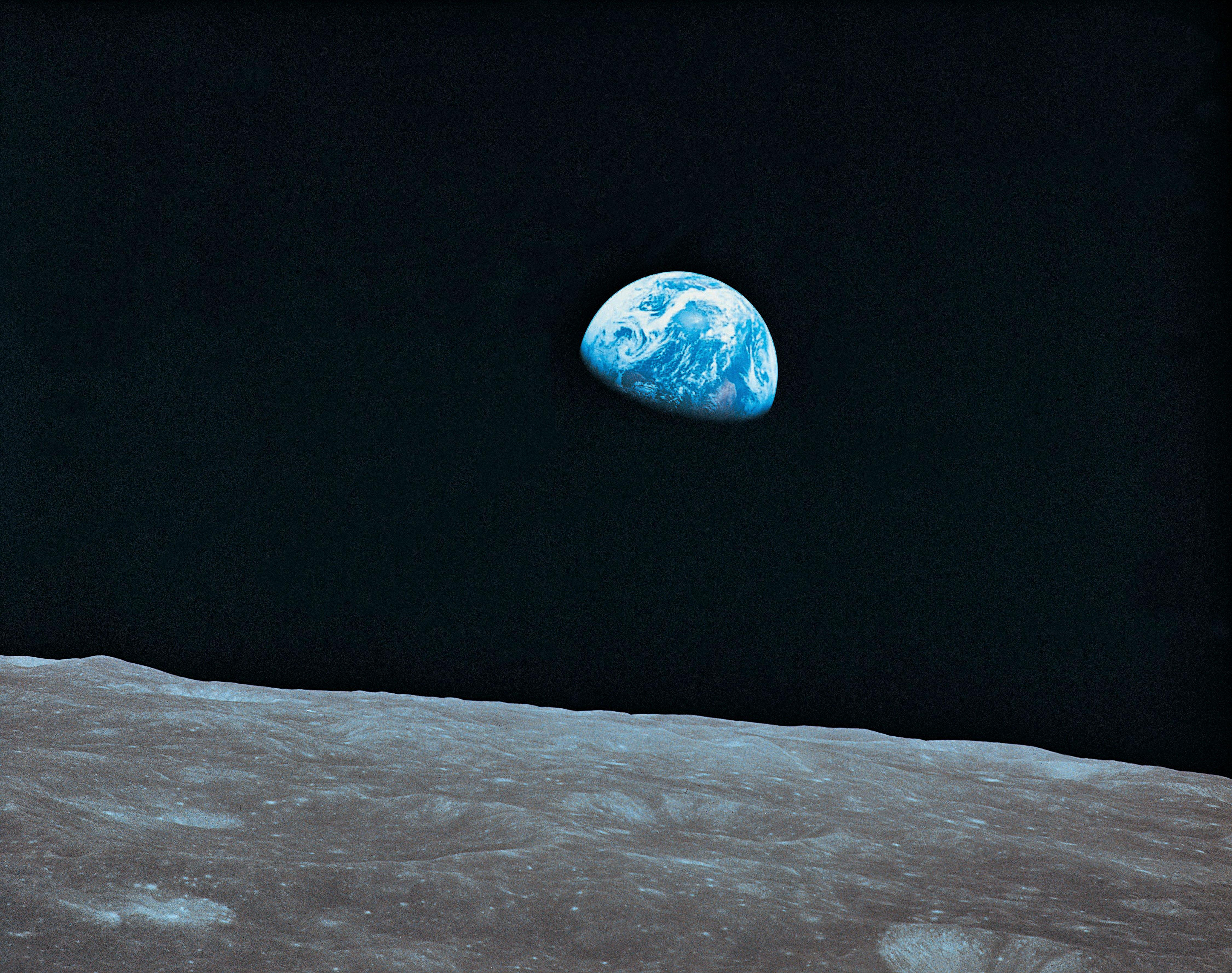 earth from the moon - HD4500×3556
