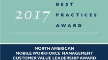 Astea International Earns Frost & Sullivan Customer Value Leadership Award for Its Innovative Mobile Workforce Management Application