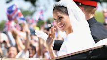 Why was Meghan's acting career practically ignored on her official royal web page?