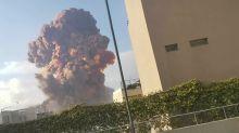 Megaexplosão lança 'nuvem cogumelo' no céu de Beirute, no Líbano