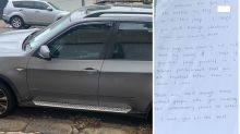 Aussie driver's furious note after car is keyed with vulgar word