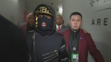 Floyd Mayweather wore a ski mask for his grand entrance