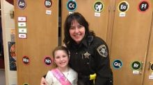 Officer comes to the rescue with cupcakes after 8-year-old's birthday is interrupted by car crash