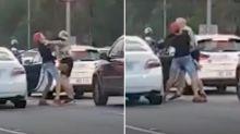 Gold Coast road rage fight caught on camera
