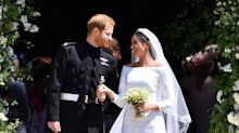Meghan Markle and Prince Harry mark two years since engagement with unseen wedding picture