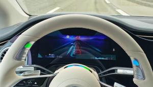 Relaxing behind the wheel of Mercedes' level 3 autonomous Drive Pilot