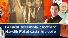 Gujarat assembly election: Hardik Patel casts his vote