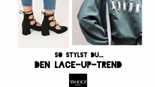 Style me up! by Jill Asemota: So stylst du den Lace-Up-Trend