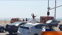Naked Man Flips Out While Sitting at Red Light in Santa Monica