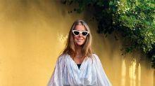 La 'influencer' Nina Sandbech tiene la falda pareo 'midi' que llevarás con tu bañador a modo de 'body'