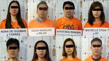 Police nab 2 Japanese, 6 Filipino illegal recruiters in QC