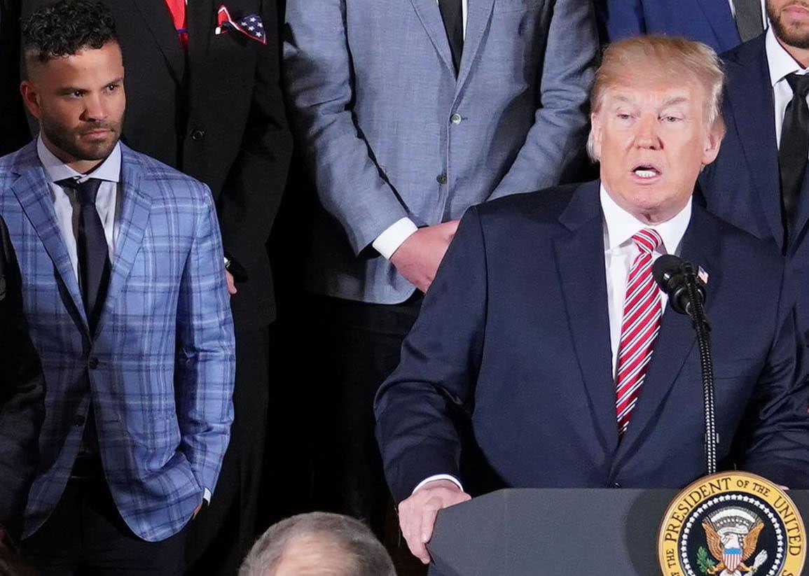 338bf15b4 José Altuve s awkward moment with President Donald Trump