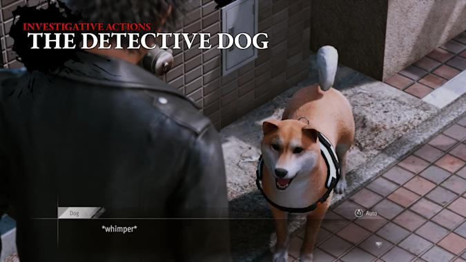 Detective dog in Lost Judgment