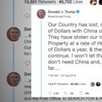 Stocks slide FURTHER after POTUS Trump tweets on US-China trade relations