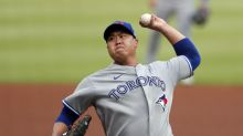 Ryu, 'pen team on 2-hitter, Blue Jays beat depleted Braves