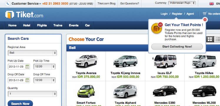 Online Travel Agent Tiket Expands Into Car Rental Market